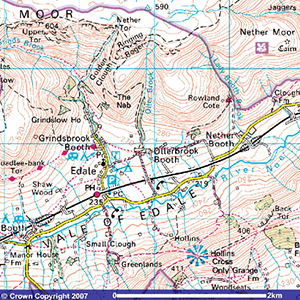 Ollerbrook Cottages Ordnance Survey Map